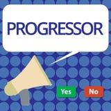 Wortschreibenstext Progressor Geschäftskonzept für Person, die Fortschritt macht oder ihn in anderen Motivation erleichtert lizenzfreie abbildung