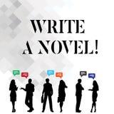 Wortschreibenstext schreiben einen Roman Geschäftskonzept für ist kreativ, etwas Literaturerfindung schreibend, einem Autor zu st lizenzfreie abbildung