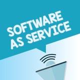 Wortschreibenstext Software als Service Geschäftskonzept für Bedarfs- genehmigt auf Abonnement und zentral bewirtet vektor abbildung