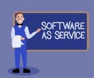 Wortschreibenstext Software als Service Geschäftskonzept für Bedarfs- genehmigt auf Abonnement und zentral bewirtet lizenzfreie abbildung