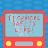Wortschreibenstext technische Sicherheits-Führung Geschäftskonzept für Maintain technische Integrität und die Arbeitsplatzsicherh vektor abbildung