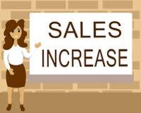 Wortschreibenstext Verkaufs-Zunahme Geschäftskonzept für Grow Ihr Geschäft durch das Finden von Wegen, Verkäufe zu erhöhen lizenzfreies stockfoto