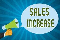 Wortschreibenstext Verkaufs-Zunahme Geschäftskonzept für Grow Ihr Geschäft durch das Finden von Wegen, Verkäufe zu erhöhen stockfotos