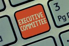 Wortschreibenstext Vollzugsausschuß Geschäftskonzept für Gruppe ernannte Direktoren hat Ermächtigung in den Entscheidungen lizenzfreie stockbilder