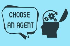 Wortschreibenstext wählen ein Mittel Geschäftskonzept für Choose jemand, das Entscheidungen im Namen Sie wählt stock abbildung