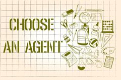 Wortschreibenstext wählen ein Mittel Geschäftskonzept für Choose jemand, das Entscheidungen im Namen Sie wählt lizenzfreie abbildung