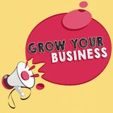 Wortschreibenstext wachsen Ihr Geschäft Geschäftskonzept für Achieve höheren Gewinn liefern besseren Anlageerfolg stock abbildung