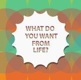 Wortschreibenstext, was Sie von Lifequestion wünschen Geschäftskonzept für Eil die Sachen, die Sie erhalten möchten vektor abbildung