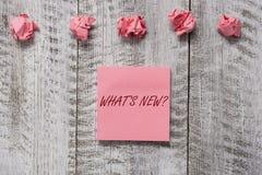 Wortschreibenstext welche neue Frage s Gesch?ftskonzept f?r, wenn Sie jemand nach seinen gegenw?rtigen Liveereignisaktionen frage stockfotos