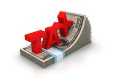 Wortsteuer- und -geldsätze Lizenzfreie Stockfotos