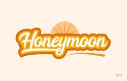 Worttext-Logoikone der Flitterwochen orange Farb lizenzfreie abbildung