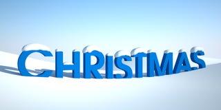 Wortweihnachten im Schnee Stockbild