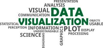 Wortwolke - Datensichtbarmachung vektor abbildung