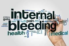 Wortwolke der inneren Blutung stockbilder