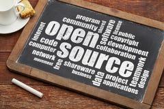 Wortwolke der offenen Quelle lizenzfreie stockfotos
