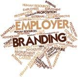 Wortwolke für das Arbeitgeber-Einbrennen Lizenzfreies Stockbild