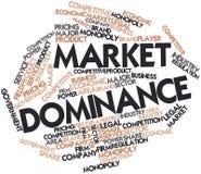 Wortwolke für Markt-Herrschaft Stockfoto