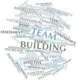 Wortwolke für Teamgebäude stock abbildung