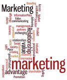 Wortwolke mit Marketing-Konzept Lizenzfreie Stockbilder