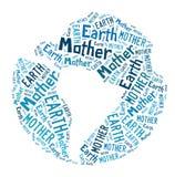 Wortwolke - Mutter Erde lizenzfreie stockbilder