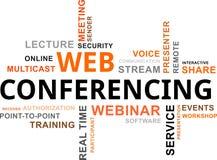 Wortwolke - Netzkonferenzschaltung Stockfotografie