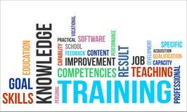 Wortwolke - Training lizenzfreie abbildung
