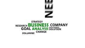 Wortwolke - Unternehmensanalyse lizenzfreie abbildung
