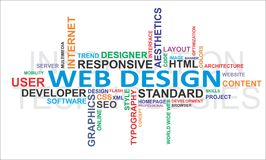 Wortwolke - Web-Auslegung Stockfoto