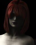 włosiana ilustracyjna czerwona kobieta Fotografia Stock