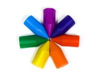 wosk ołówków gwiazdy wosk Zdjęcie Royalty Free