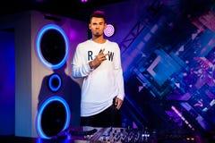 Wosk postać holender DJ, dokumentacyjny producent Afrojack w Madame Tussauds Nawoskujący muzeum w Amsterdam i remixer, holandie Obraz Stock