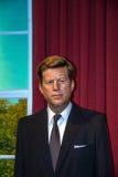 Wosk postać John F Kennedy, poprzedni usa prezydent w Madame Tussauds muzeum w Londyn, Fotografia Stock