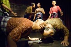 Wosk postacie przy Tajlandzkim Ludzkim metaforyka muzeum ja Obrazy Royalty Free