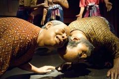 Wosk postacie przy Tajlandzkim Ludzkim metaforyka muzeum ja Fotografia Royalty Free