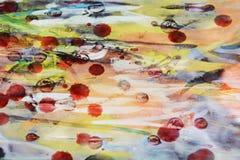 Woskowatej akwareli abstrakcjonistyczny tło w pastelowych odcieniach Zdjęcia Royalty Free