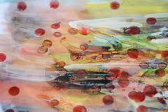 Woskowatej akwareli farby abstrakcjonistyczny tło w pastelowych odcieniach Zdjęcie Royalty Free