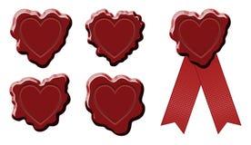 Wosku znaczka foki serce Zdjęcia Stock