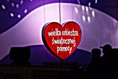 WOSP Vrij overleg bij de liefdadigheidscampagne Stock Foto