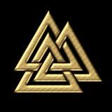 Wotans fnurra - Valknut - Odin - triangel Arkivbilder