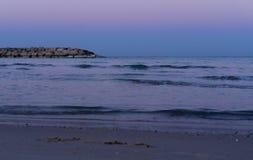 Woterbreaker το πρωί σε Herzliya Στοκ εικόνες με δικαίωμα ελεύθερης χρήσης
