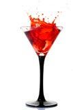 woth för vatten för cheryefterrättfärgstänk arkivfoto