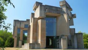 Wotruba church, vienna, austria, unconventional, futuristic, strange, contemporary building, 4k stock video