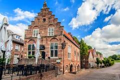 Woudrichem Nederländerna arkivfoto