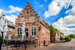 Woudrichem, Netherlands. Woudrichem about 866 is an old fortified town on the river Merwede in the province of North Brabant. Here, the old town hall, now a Stock Photo