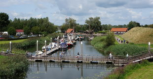 Woudrichem in the Netherlands. The old harbor of Woudrichem in the Netherlands stock photography