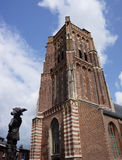 Woudrichem in the Netherlands. Statue in front of the church in the historical center of Woudrichem Stock Image