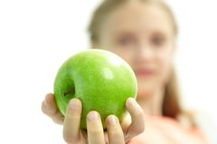 Would you like an apple? Stock Photos