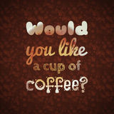 Would you like a cup of coffee Royalty Free Stock Photos