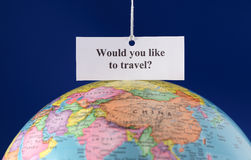 Would you like to travel? Stock Image