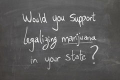 Would you support legalizing marijuana in your state? Royalty Free Stock Photography